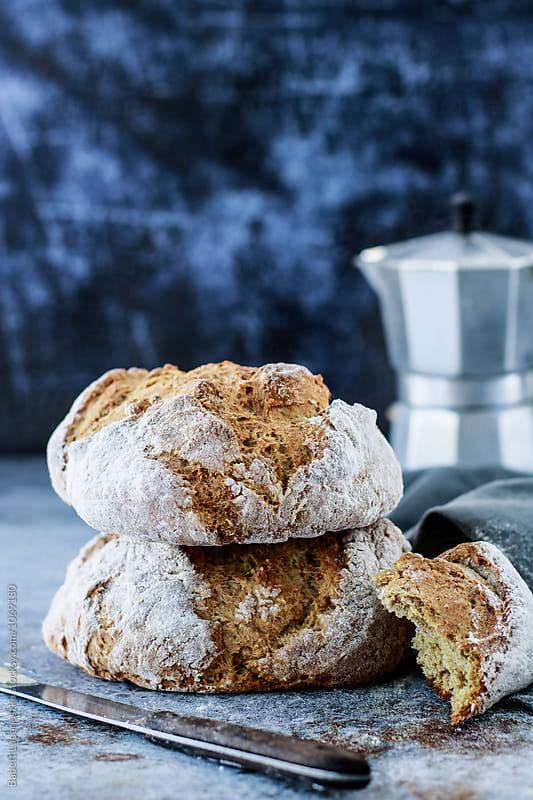 Soda bread by Babett Lupaneszku for Stocksy United