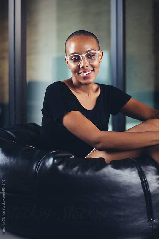Beautiful African American Woman Portrait by Nemanja Glumac for Stocksy United