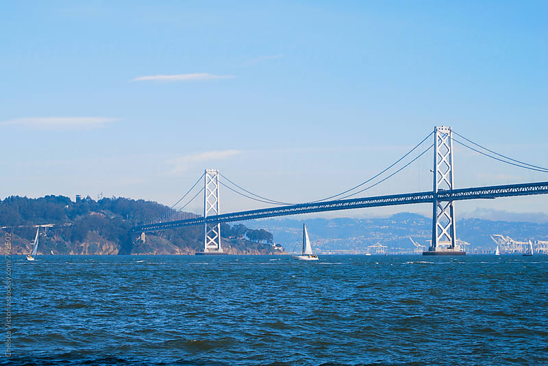 The Bay Bridge in San Francisco by Chelsea Victoria for Stocksy United