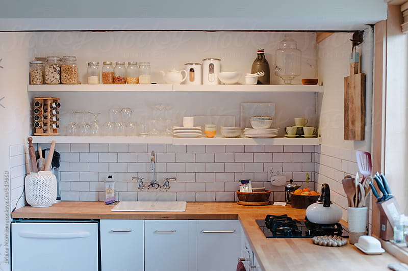 A Modern Kitchen in White by Briana Morrison for Stocksy United