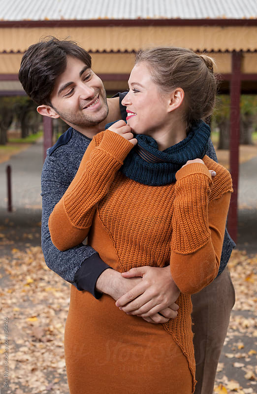Stylish young couple in an autumn park by Ben Ryan for Stocksy United