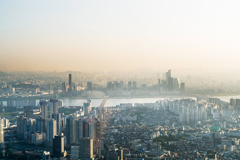 cityscape and skyline of seoul,south korea by yuanyuan xie for Stocksy United