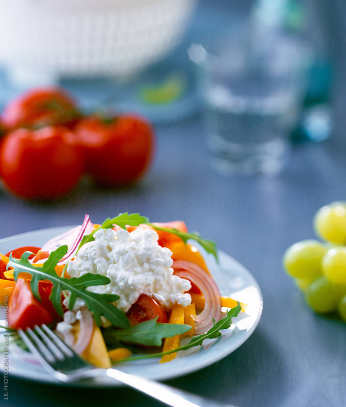 Cottage cheese salad by J.R. PHOTOGRAPHY for Stocksy United