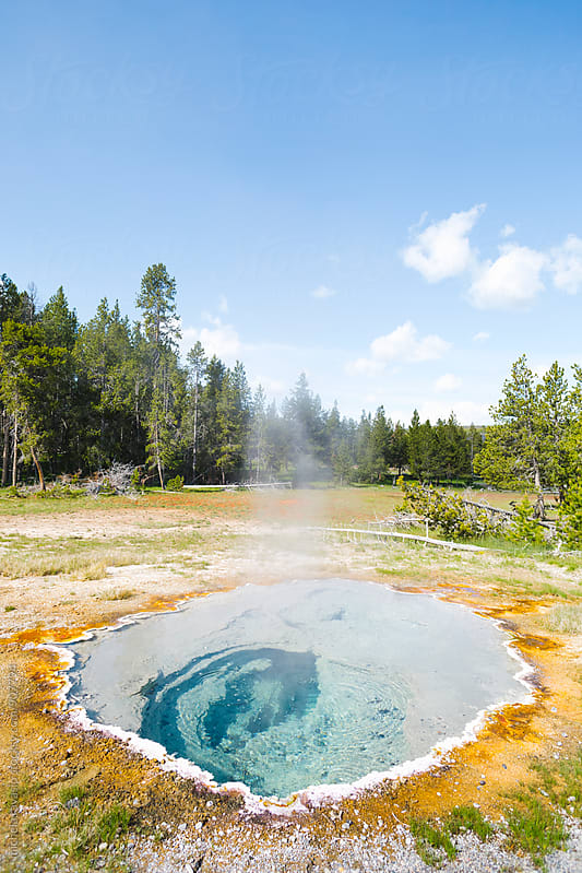 Hot spring water in Yellowstone National Park, USA by michela ravasio for Stocksy United