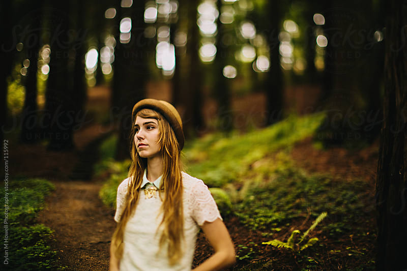 Walking in the Redwood Forest by Dylan M Howell Photography for Stocksy United