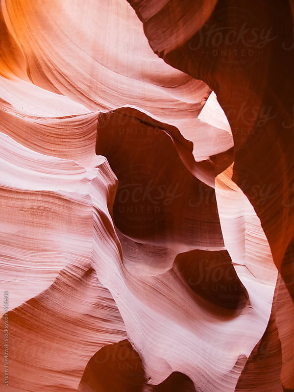 Colorful sandstone canyon walls. Arizona. by Jeremy Pawlowski for Stocksy United