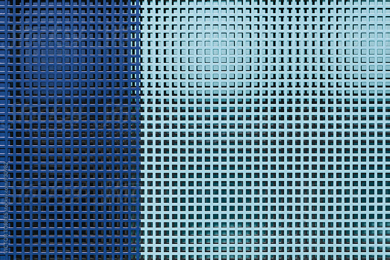 Blue Metallic Grill Background by VICTOR TORRES for Stocksy United