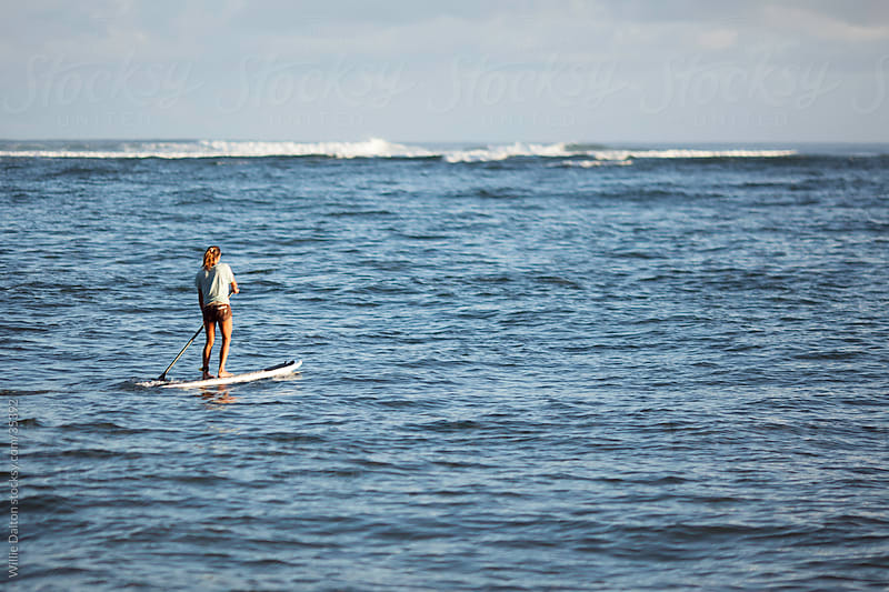 Paddle Boarder by Willie Dalton for Stocksy United