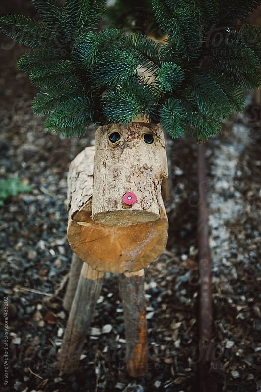 A Reindeer Made out of Wood by Kristine Weilert for Stocksy United