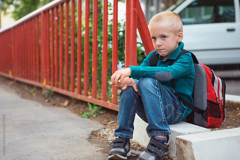 Sad Schoolboy by Lumina for Stocksy United