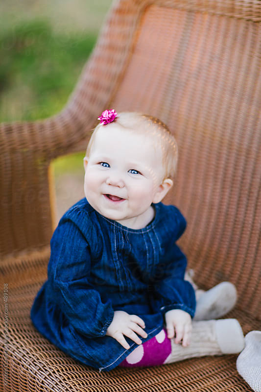 A happy baby by Kristen Curette Hines for Stocksy United