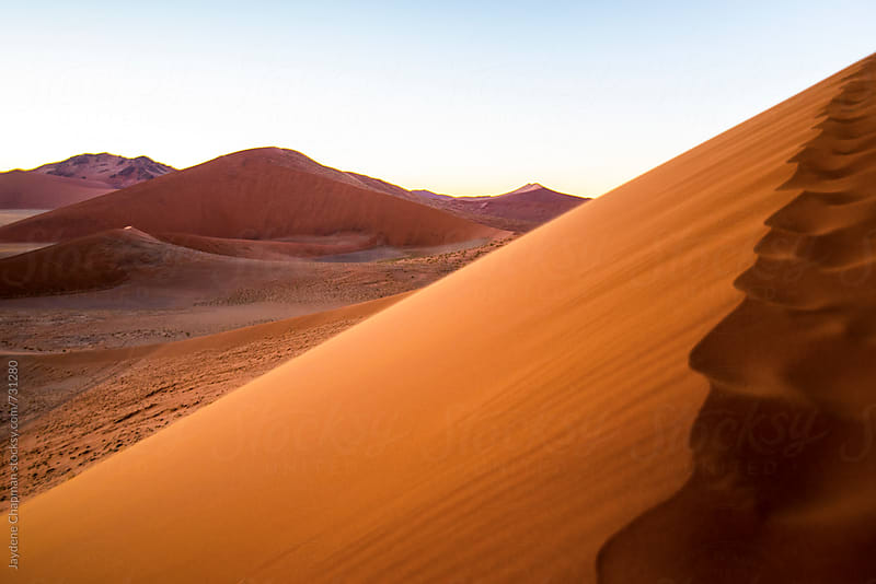 Sand dunes at sunrise, Namibia, Africa by Jaydene Chapman for Stocksy United