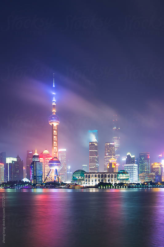 Night of Lujiazui,Shanghai by zheng long for Stocksy United