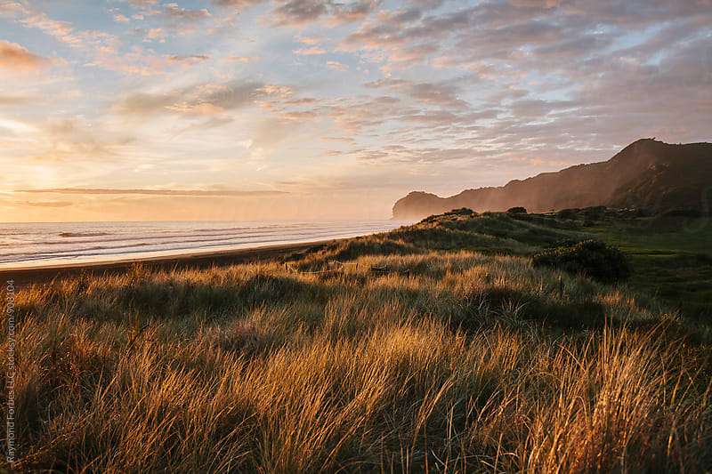 Piha Beach Sunset by Raymond Forbes LLC for Stocksy United