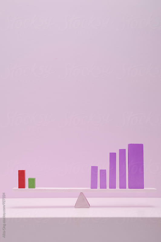 Bar chart by Alita Ong for Stocksy United