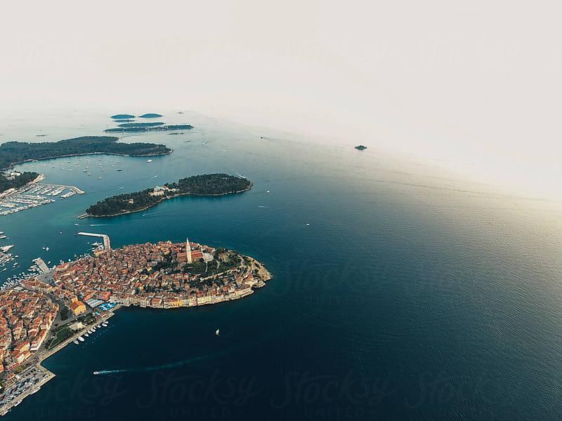 Aerial View of Rovinj, Croatia by Lumina for Stocksy United