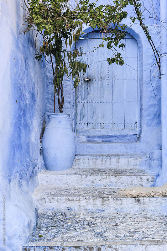 Chefchaouen, the blue city by Bisual Studio for Stocksy United