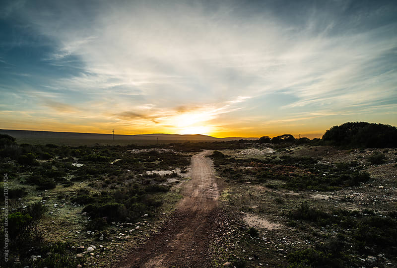 Country Road Sunset by craig ferguson for Stocksy United