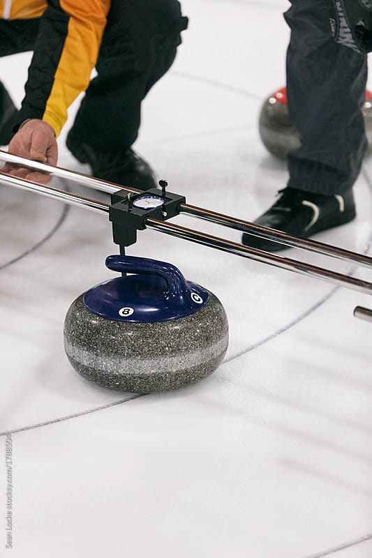 stock photo: curling measuring