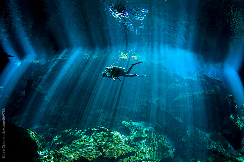 Chac Mool Cenote by Shane Gross for Stocksy United