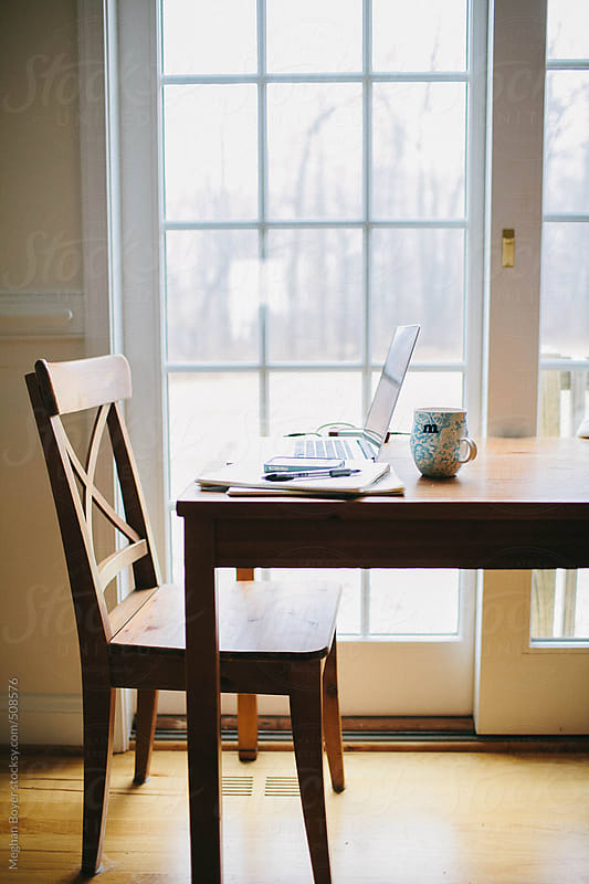 Table and chair workstation still life by Meghan Boyer for Stocksy United