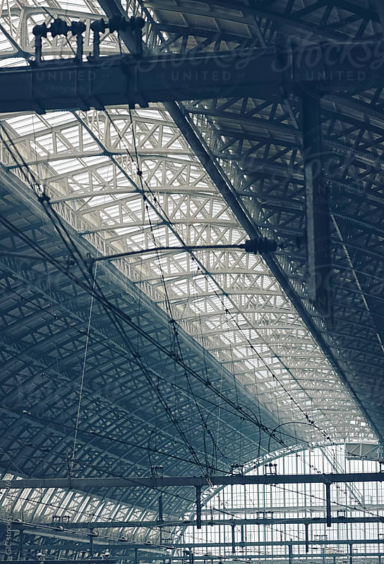 Amsterdam Central Station ceiling by Simone Becchetti for Stocksy United