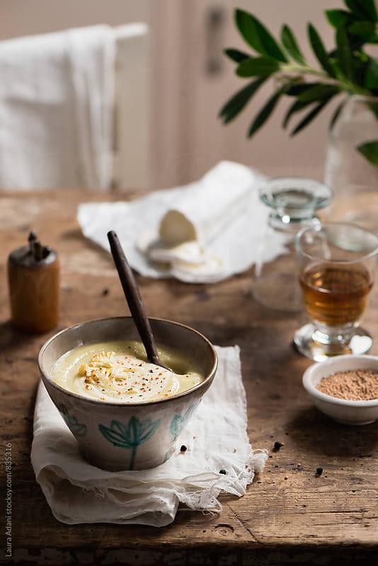 Cauliflower soup by Laura Adani for Stocksy United