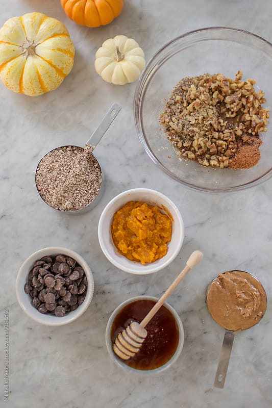 Gluten-free Pumpkin Cookie Ingredients by Michelle Moore for Stocksy United