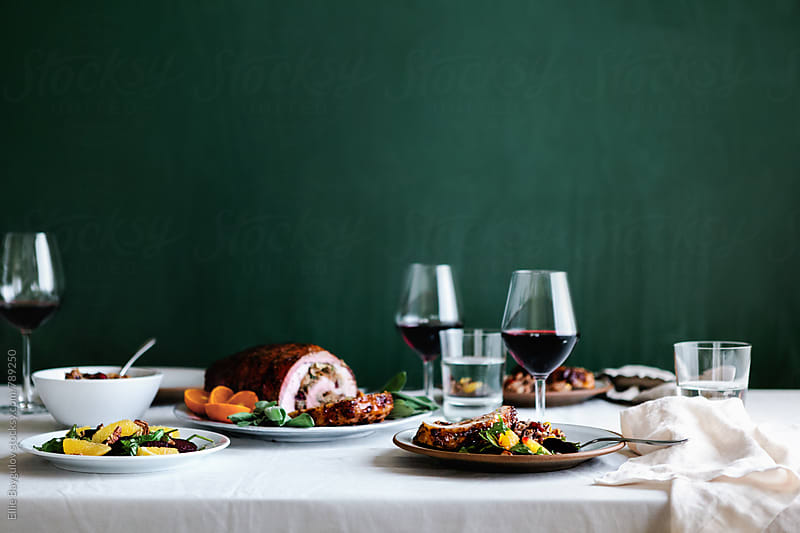 Thanksgiving feast by Ellie Baygulov for Stocksy United