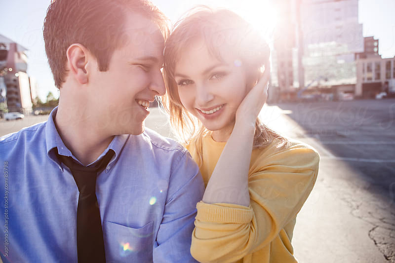 Dating young couple in love in the city  by Suprijono Suharjoto for Stocksy United
