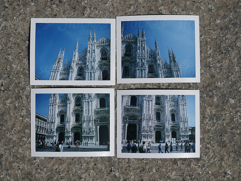 Collage of instant photos with Duomo di Milano by rolfo for Stocksy United