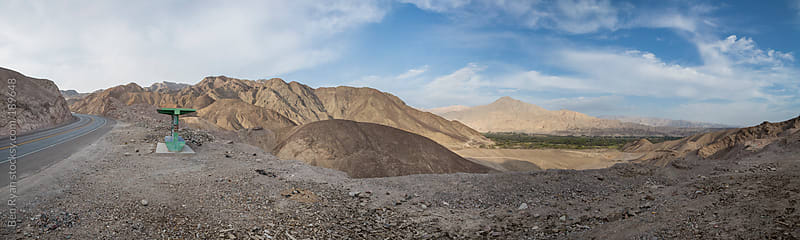 Panorama of mountain pass and Rio Grande valley in Nazca, Peru by Ben Ryan for Stocksy United