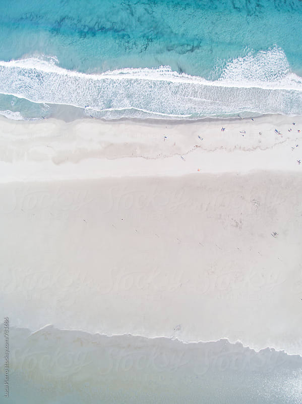 Beach from above (Tint Color Variation) by Luca Pierro for Stocksy United