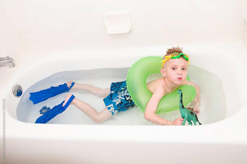 bath time fun by Rebecca Rockwood for Stocksy United