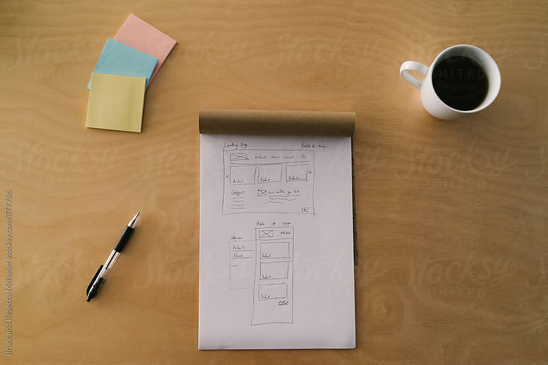 Wireframes of a Website by Bruce and Rebecca Meissner for Stocksy United
