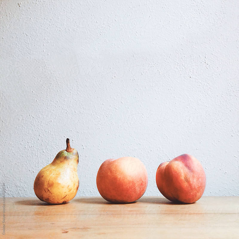 Pear of peaches by Connor Dwyer for Stocksy United