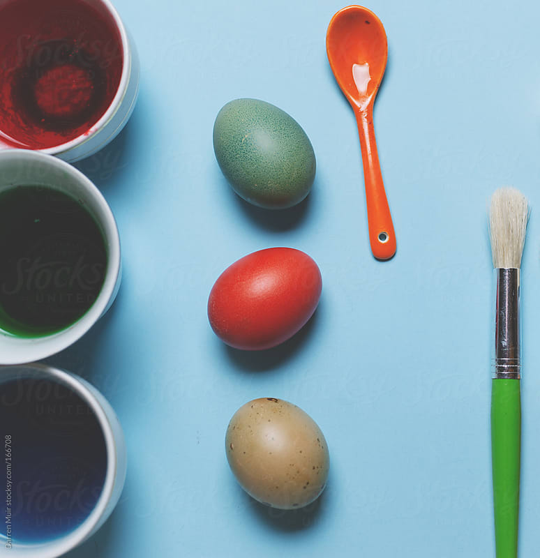 Colorful Easter eggs. by Darren Muir for Stocksy United