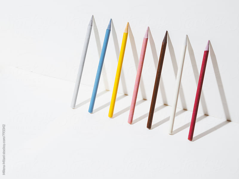 Colorful pencils by Milena Milani for Stocksy United