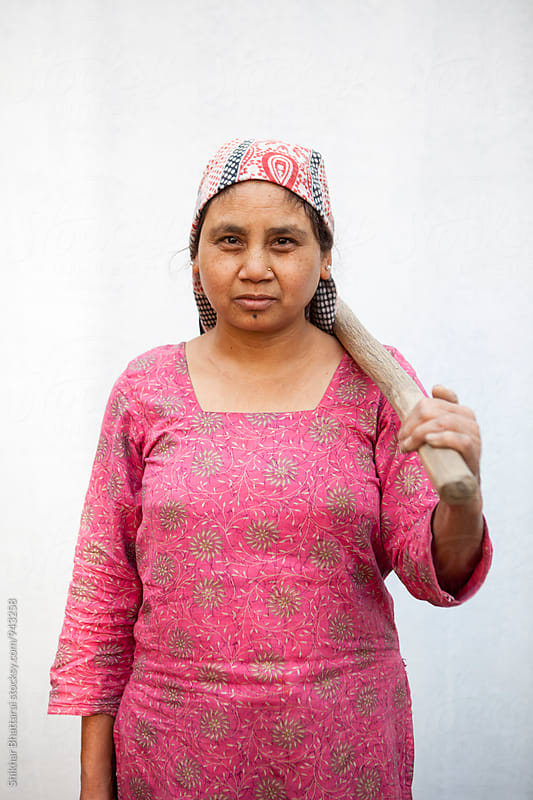 Portrait of a south asian woman. by Shikhar Bhattarai for Stocksy United