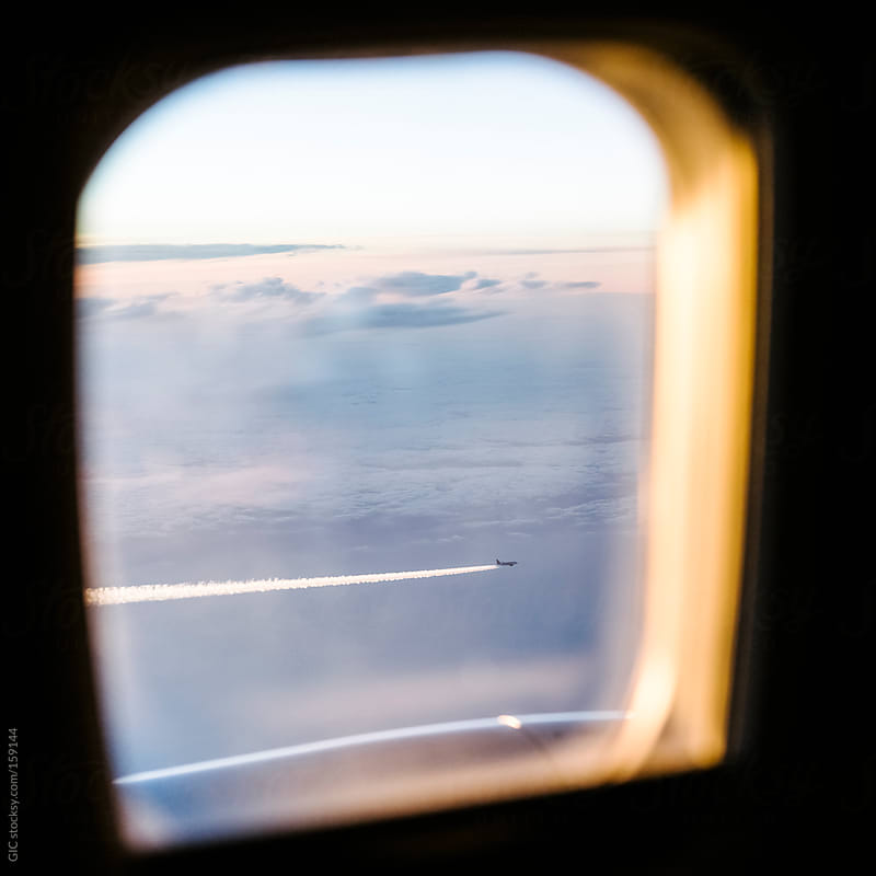 A Plane view from another plane - Air traffic by GIC for Stocksy United