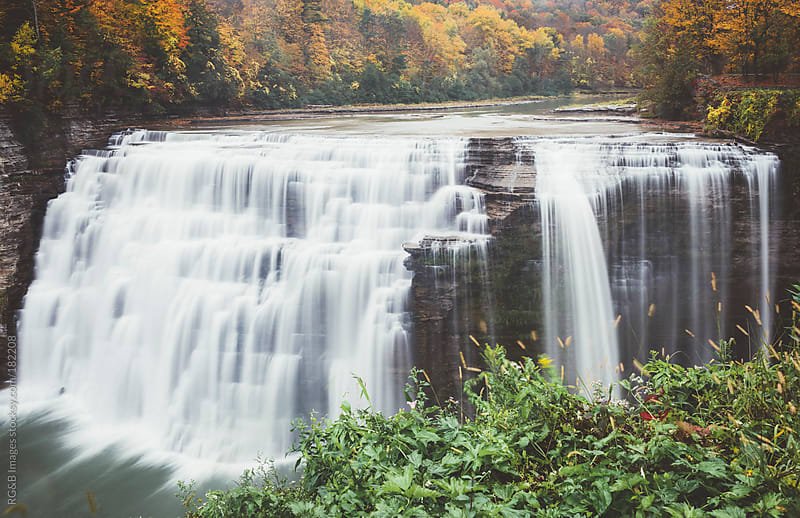 Letchworth State Park waterfall  by RG&B Images for Stocksy United