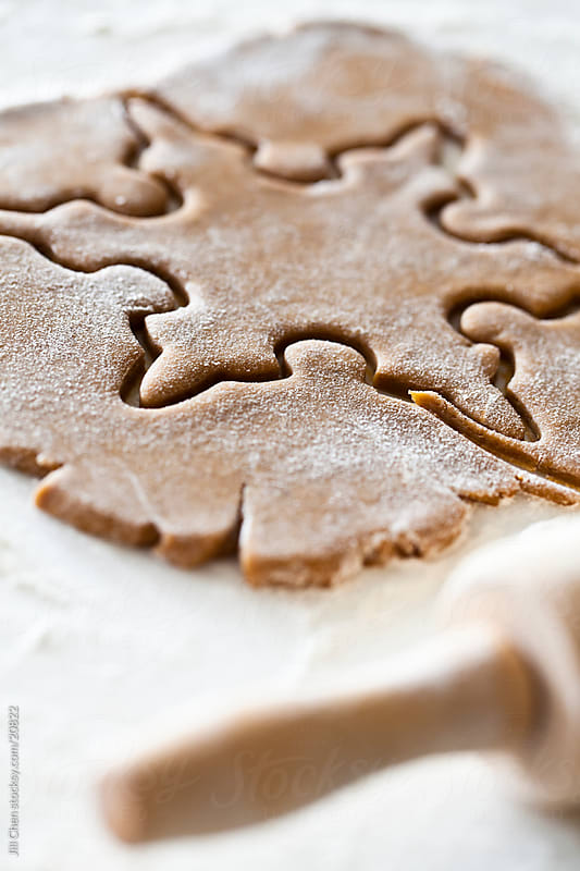 Gingerbread Snowflake Cookie by Jill Chen for Stocksy United