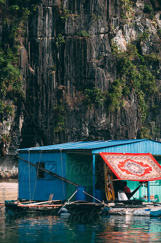 Floating house in Halong Bay by David Navais for Stocksy United