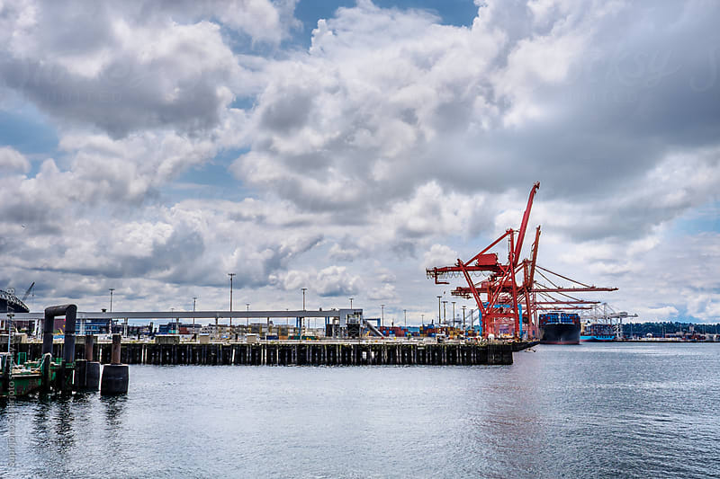 Freight harbor in Seattle, USA by Suprijono Suharjoto for Stocksy United