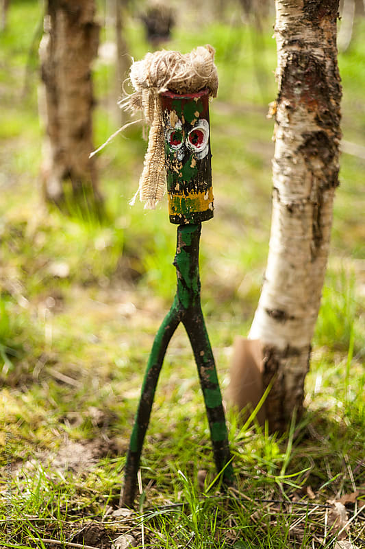 Hand carved woodland figure. by Darren Muir for Stocksy United