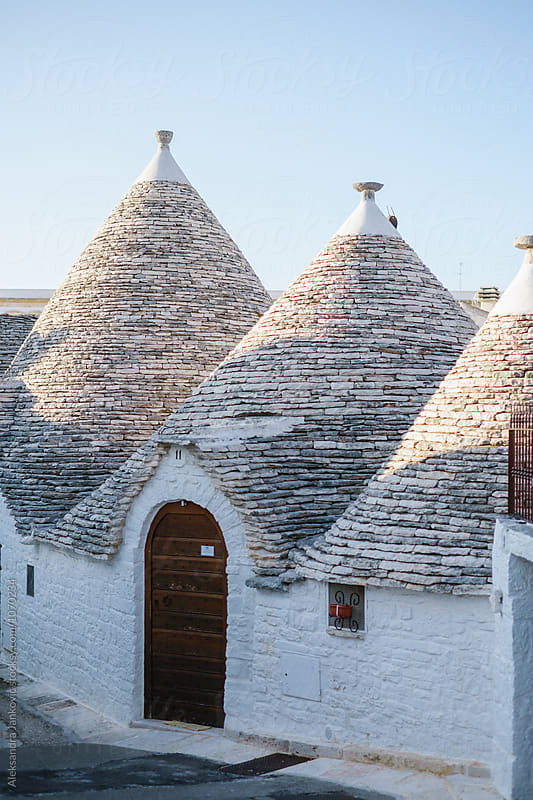 The Trulli of Alberobello by Aleksandra Jankovic for Stocksy United