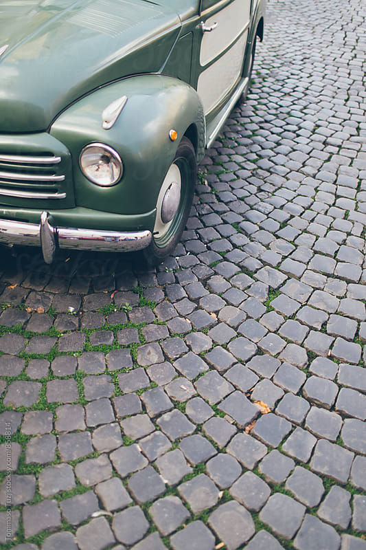 Vintage car in Rome by Tommaso Tuzj for Stocksy United