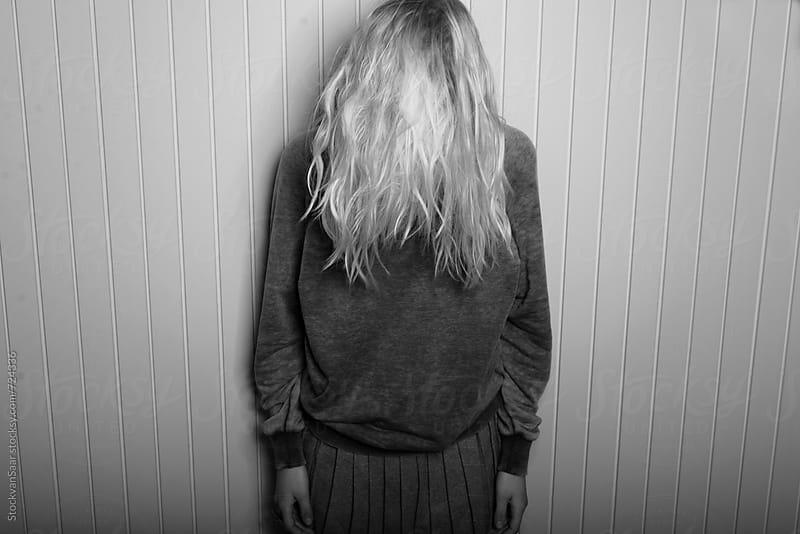 Girl in black and white. by StockvanSaar for Stocksy United