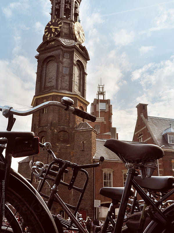 bicycles in amsterdam by Sonja Lekovic for Stocksy United