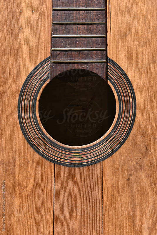 Old spanish guitar detail by Bisual Studio for Stocksy United
